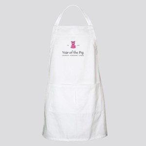"""""""Year of the Pig"""" [1983] BBQ Apron"""